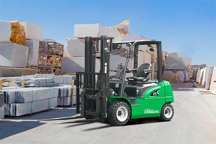 HANGCHA CPD25-XD4-SI26 Chariot-élévateur lithium idéal pour le travail en extérieur